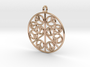 Peace2 in 14k Rose Gold Plated Brass