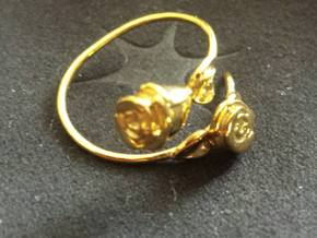 Roses Ring Anello con boccioli in 18k Gold Plated