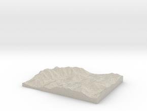 Model of Mount Colden in Sandstone