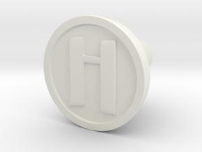 KnobH in White Natural Versatile Plastic