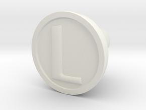KnobL in White Natural Versatile Plastic