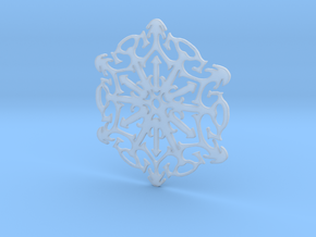 Snowflake Crystal in Smoothest Fine Detail Plastic