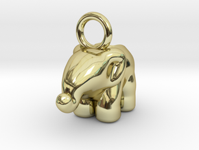 Elephant in 18k Gold Plated Brass