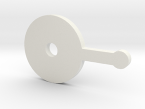 Dial Lever (armada) in White Strong & Flexible