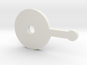 Dial Lever (armada) in White Natural Versatile Plastic