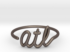 ATL Wire Ring (Adjustable) in Polished Bronzed Silver Steel