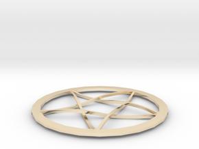 Pentagram Pendent in 14K Yellow Gold