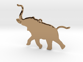 Trumpeting Elephant in Polished Brass