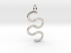 Horse Shoe pendant in Platinum