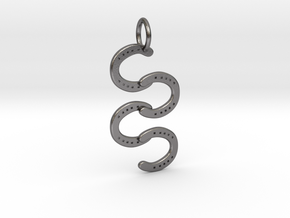 Horse Shoe pendant in Polished Nickel Steel