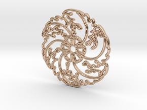 Flower in 14k Rose Gold Plated Brass