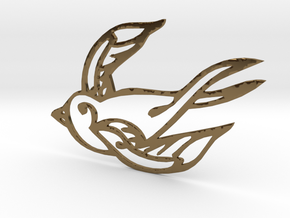 Swallow in Polished Bronze