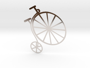 Penny-farthing (High Wheeler) Bicycle in Platinum