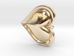 zelda heart in 14K Yellow Gold
