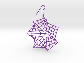 flower (large_right) in Purple Processed Versatile Plastic