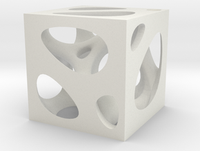 Voronoi Brush Pot in White Natural Versatile Plastic