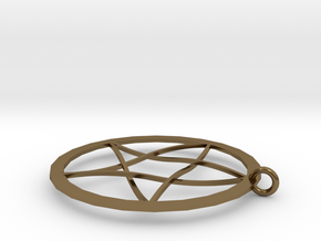 Pentagram Pendent(with Ring) in Polished Bronze