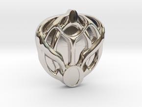 Mon Mothma's Brooch - small in Platinum