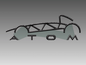 Atom Logo interpretation reversed in Polished Bronzed Silver Steel