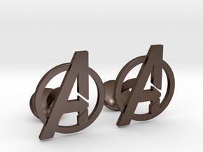 Avengers Cufflinks in Polished Bronze Steel
