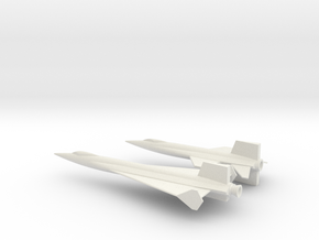 1/285 NAA X-15 + X-15 DELTA WING ROCKET PLANES in White Strong & Flexible