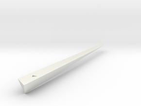 Spear in White Natural Versatile Plastic