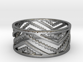 Roos' trousers Ring in Fine Detail Polished Silver