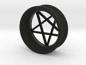 Pentagram Ear Plug in Black Natural Versatile Plastic