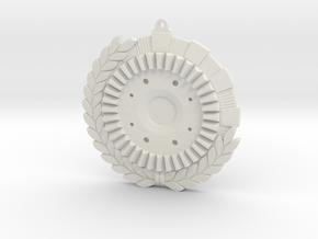 """Immortan Joe """"Grinder"""" Badge / Medal in White Natural Versatile Plastic"""
