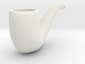 Pipe in White Natural Versatile Plastic
