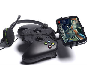 Xbox One controller & chat & Sony Xperia C4 - Fron in Black Natural Versatile Plastic