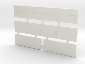 Strip Mall Walls 1 Z Scale in White Natural Versatile Plastic