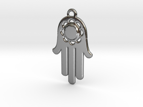 Fatima's Hand in Fine Detail Polished Silver