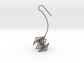 rose (small) in Polished Bronzed Silver Steel