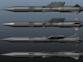 'Anti-Vajra' Missile x4 - YAMATO in White Strong & Flexible Polished