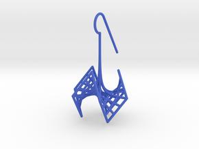 spiderRose (small) in Blue Processed Versatile Plastic