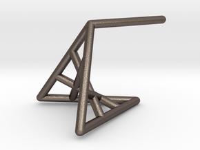 rosePetal_short (small) in Stainless Steel