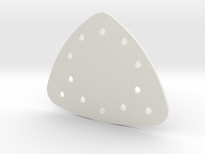 Triangle Gem Setting Plate in White Natural Versatile Plastic