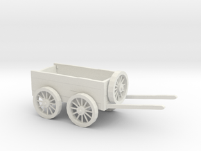 Dungeon Tabletop RPG Dragon Horse Cart in White Natural Versatile Plastic