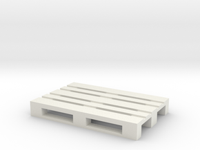 Pallet Coaster in White Natural Versatile Plastic