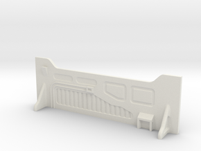 Sci-Fi Barrier / Wall / Corridor in White Natural Versatile Plastic