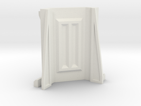 Sci-Fi Barrier / Wall / Corridor Corner in White Natural Versatile Plastic