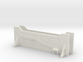 Sci-Fi Barrier / Wall / Corridor - Set (x2) in White Natural Versatile Plastic