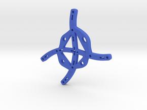 Central Focus in Blue Processed Versatile Plastic