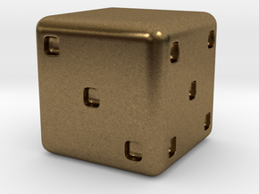 Personalizable D6 in Natural Bronze