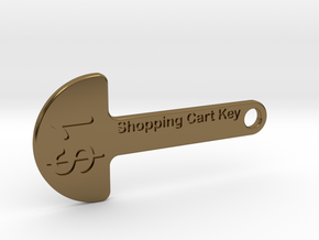 Loonie Shopping Cart Key in Polished Bronze