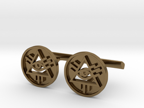 Illuminati Cufflinks in Polished Bronze