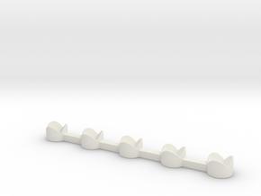 Dice Stand 5 in White Natural Versatile Plastic