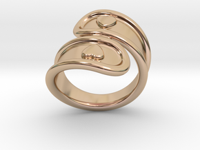 San Valentino Ring 23 - Italian Size 23 in 14k Rose Gold Plated Brass