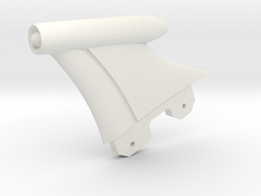 Retro Raygun: Fin Assembly in White Natural Versatile Plastic